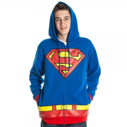 Superman Men's Royal Blue Costume Hoody