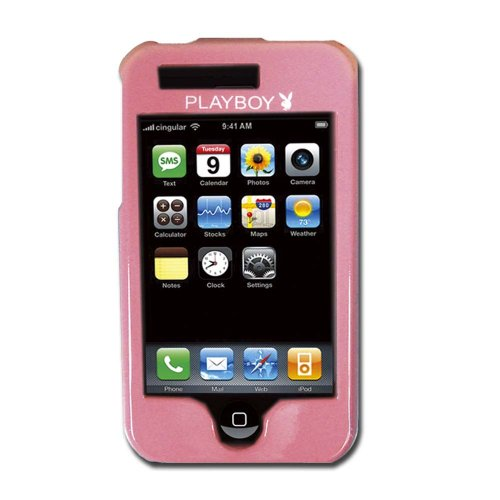 Licensed Playboy Pink Snap On with White Bunny on the Back and Playboy Logo in the Front Compatible with iPhone (Playboy Bunny Phone Accessories compare prices)