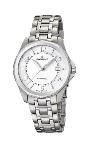 Candino C4491/2 - Reloj analógico de cuarzo para hombre con correa de acero inoxidable, color plateado