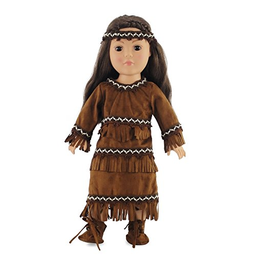 18 Inch Doll Clothes/clothing Fits American Girl - Native American Outfit Fits Kaya 18