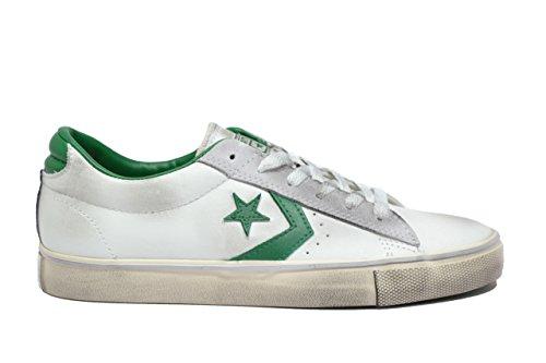 CONVERSE 152722C white/pool t pro leather vul scarpe unisex lacci pelle