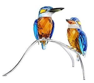 Swarovski Crystal #945090, Kingfishers, Blue Turquoise, New 2008,