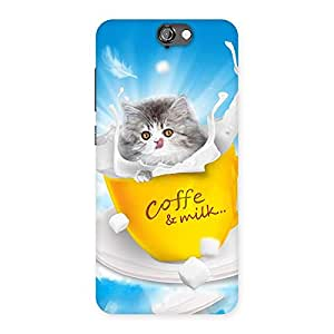 Kitty Coffee Multicolor Back Case Cover for HTC One A9