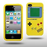 "Iprotect ORIGINAL APPLE IPHONE 4 / 4S GAMEBOY RETRO SILIKONH�LLE MIT KN�PFEN IN GELB // CASE TASCHE H�LLEvon ""iprotect"""