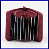 Soft Leather Concertina Credit Card Case (Deep Pink)by Just4ugifts