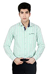 T.D.G Casual Long Sleeve Cotton Shirt (Green)