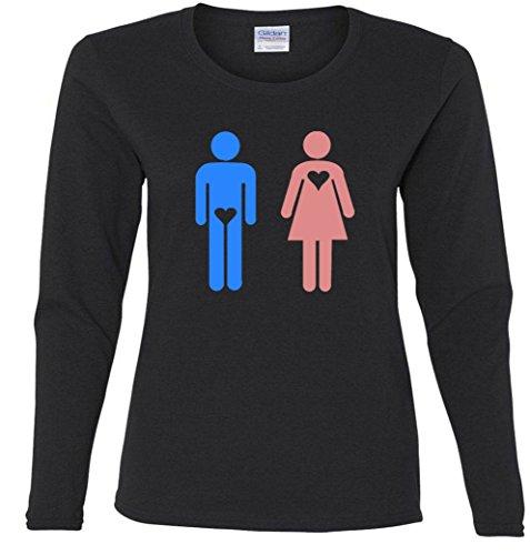 True Love Heart Missy Fit Long Sleeve T-Shirt