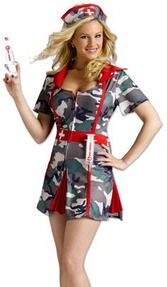 Fun World Sexy Womens Army Nurse Outfit Party Halloween Costume