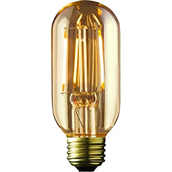 ARCHIPELAGO Dimmable LED Filament Vintage Radio T14 (RD14) Light Bulb, 2 Watt, Medium Standard Base (E26), 2200K (Amber Glow), Omnidirection, UL Listed