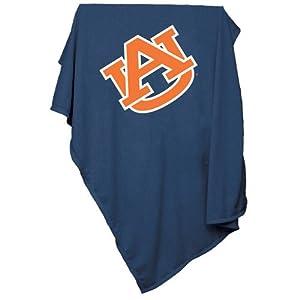 Auburn Tigers NCAA Sweatshirt Blanket Throw by Logo Chair