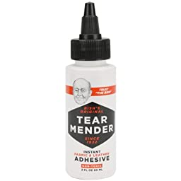 Tear Mender Instant Fabric & Leather Adhesive-2 Ounces (2 Bottles)