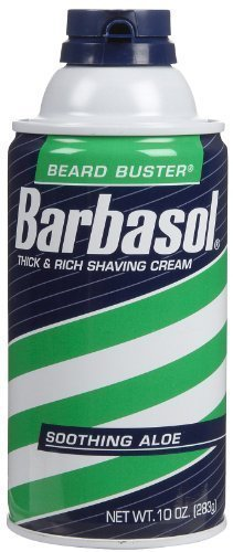 Barbasol Thick and Rich Shaving Cream For Men, Soothing Aloe