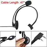 41G9nnMJvdL. SL160  Gino Black Single Ear Headset PTT Headphone for Kenwood Radios