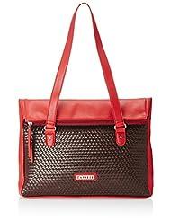 Caprese Women's Tote Bag (Red And Brown)