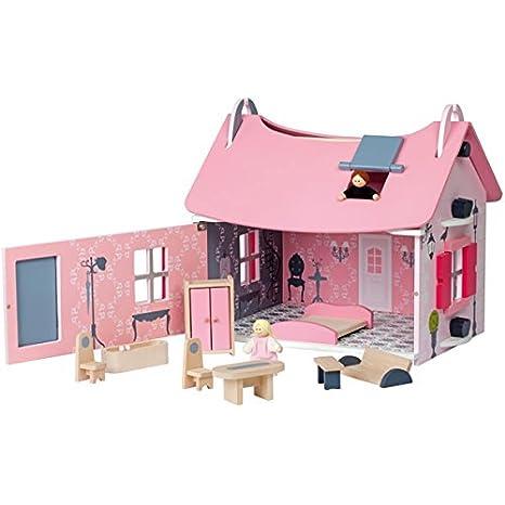 Janod - J06534 - Poupée et Mini-Poupée - Maison de Poupées Little Mademoiselle