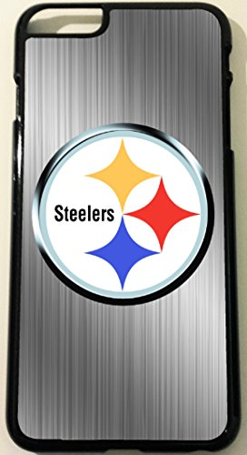 Iphone 6 Pittsburgh Steelers Brushed Aluminum Look Black Hard Case at Steeler Mania