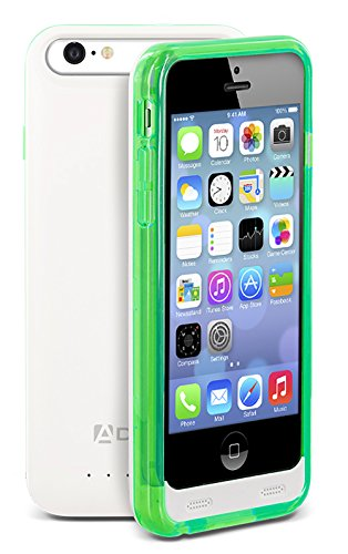 iPhone SE / 5S / 5 Battery Case, Aduro® PowerUp MFI Slim Rechargeable Fuel Jacket Power Bank Case for Apple iPhone SE / 5S / 5, 2400 mAh Capacity & 40+ Hrs Added (Turquoise) (Fuel Power Bank compare prices)