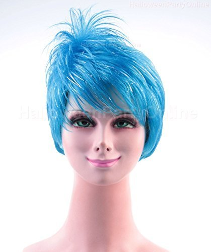 Halloween Party Online Joy Inside Light Blue Wig Out Costume Cosplay Idea HW-136