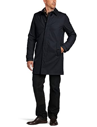 Tommy Hilfiger Men's Light Weight Trench Coat, Navy, XX-Large