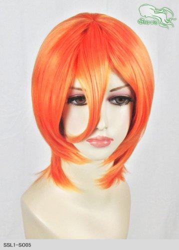 スキップウィッグ 魅せる シャープ 小顔に特化したコスプレアレンジウィッグ マシュマロショート ネオンオレンジ
