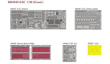 Grumman E-2C Hawkeye (pour les maquettes Kinetic) ED48637 E-2C exterior ED48640 E-2C surface panels ED49009 Remove Before Flight
