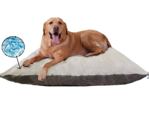 """Beige Color Jumbo Xxxl 54X47"""" Orthopedic Micro Cushion Memory Foam Pet Bed Pillow For Xlarge Dog With 2 External Cover + Waterproof Internal Cover front-530937"""