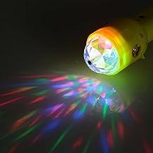 Alcoa Prime DC5V 3W Portable Multifunctional Dual RGB LED Stage Effect Light Magic Ball Lamp Flashlight Torches...