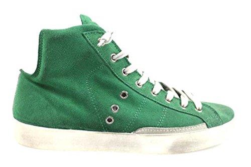 scarpe uomo 2 STAR 41 EU sneakers verde camoscio AP690-B