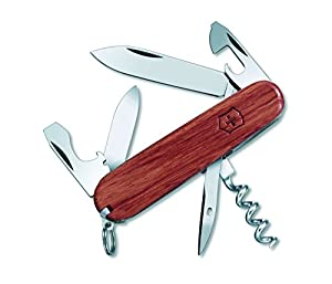 Victorinox Swiss Army Spartan Hardwood Knife, 91mm, Brown