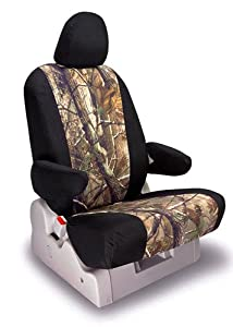 Shear Comfort Custom Pontiac Montana Seat Covers - FRONT SEAT SET: Low Back Captains w/ Inner Arms and Adjustable Headrests (1997-1998) - Realtree Camo AP Sport