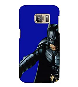 printtech Superhero Black Back Case Cover for Samsung Galaxy S7 :: Samsung Galaxy S7 Duos with dual-SIM card slots