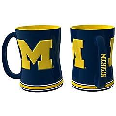 Buy Michigan Wolverines Coffee Mug - 15oz Sculpted by Caseys