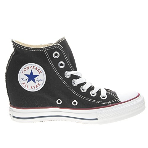 Converse Unisex - Adulto All Star Mid Lux Sneakers con zeppa nero Size: EU 40.5