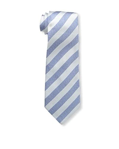 Kiton Men's Striped Tie, Blue/Gray