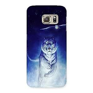 AJAYENTERPRISES Blue Shade Tiger Back Case Cover for Samsung Galaxy S6 Edge Plus
