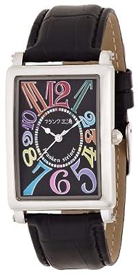 [フランク三浦]MIURA 初号機(改) 美しき革命という異名を持つ伝説のモデル 正回転 完全非防水 腕時計 ジャパンクオーツ FM01K-CRBK