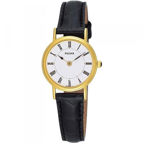 Pulsar Black Leather Strap Ladies Watch - PTA194X1