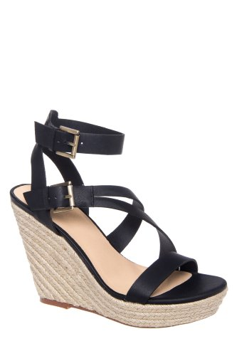 Joe's Jeans Mckayla High Wedge Ankle Strap Espadrille Sandal