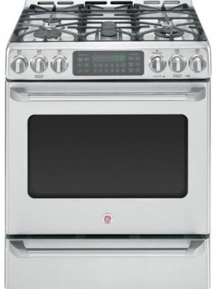 Stainless Steel 30-Inch SAMSUNG NX58H9950WS Slide-In Gas Range with 5 Sealed Burners