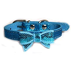 Pawzone Sparkling Glitter Cat Collar-Blue