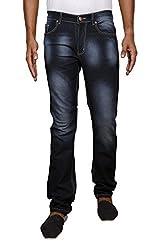 John Wills Men's Slim Fit Jeans (MCR1003--34, Black, 34)