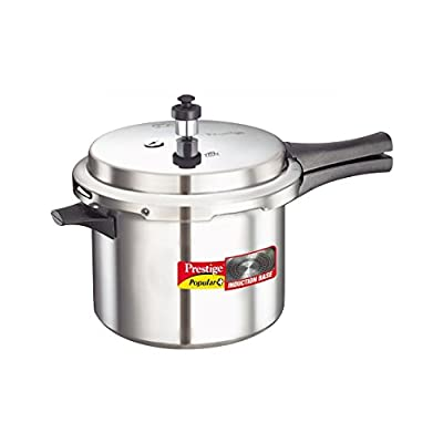 Prestige Popular Plus Induction Base Pressure Cooker, 3 Litres