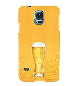 EPICCASE Beer Glass Mobile Back Case Cover For Samsung Galaxy S5 (Designer Case)
