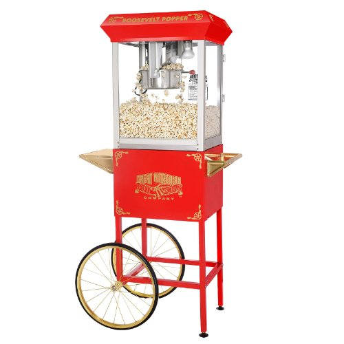 New Antique Style Red Popcorn Machine Popper 8 Oz Kettle For Home/Commercial Use