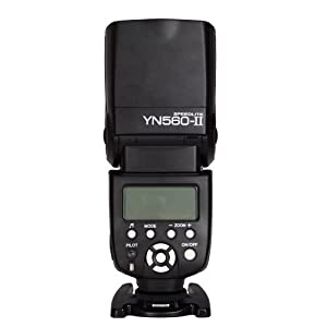 Yongnuo YN560-II Flash Speedlite Speedlight With LCD Screen For Canon 5D Mark II 7D 600D 550D + Diffuser with Koolertron Logo by Koolertron