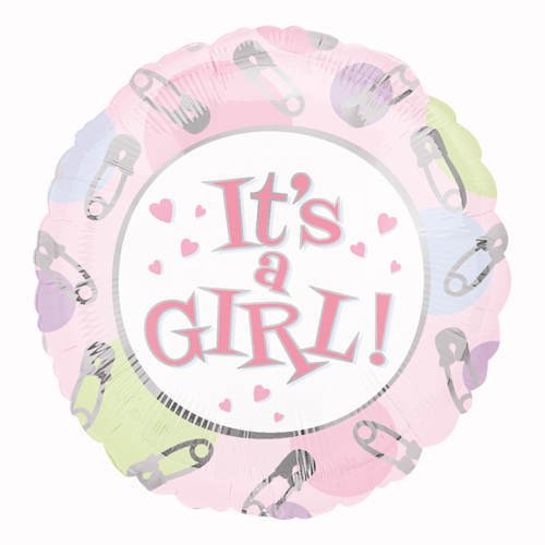 "It's a Girl Pins 32"" Newborn Celebration Baby Shower Party Mylar Foil Balloon"