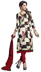 The Desi Attire Women's Bhagalpuri Silk Unsticthed Dress Material (2005_Cream_40)