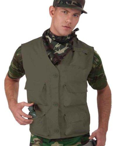 [Combat Hero Costume Vest Adult: Solid Green] (Combat Costumes Women)