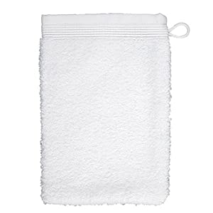 Möve Superwuschel Waschhandschuh 15 x 20 cm (Doppelpack) weiß