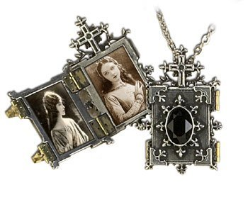 Orthodox Icon Locket with chain Holds 2 Photos